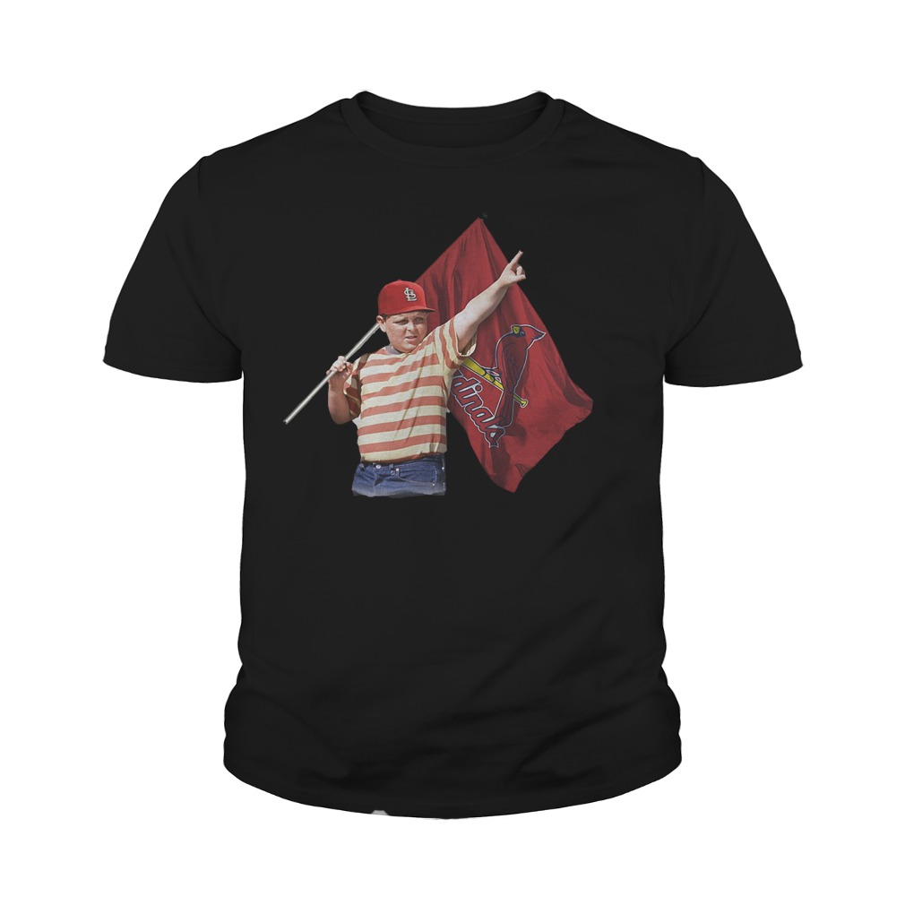 The Sandlot With St Louis Cardinals Flag T-Shirt Youth Tee