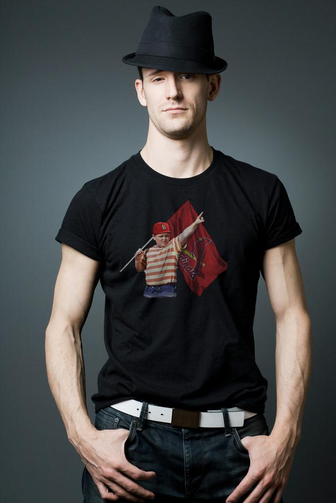 The Sandlot With St Louis Cardinals Flag T Shirt