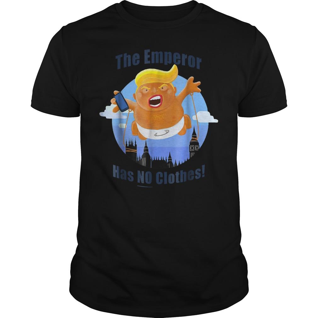 Trump Baby Balloon Blimp The Emperor Has No Clothes T Shirt Classic Guys Unisex Tee.jpg
