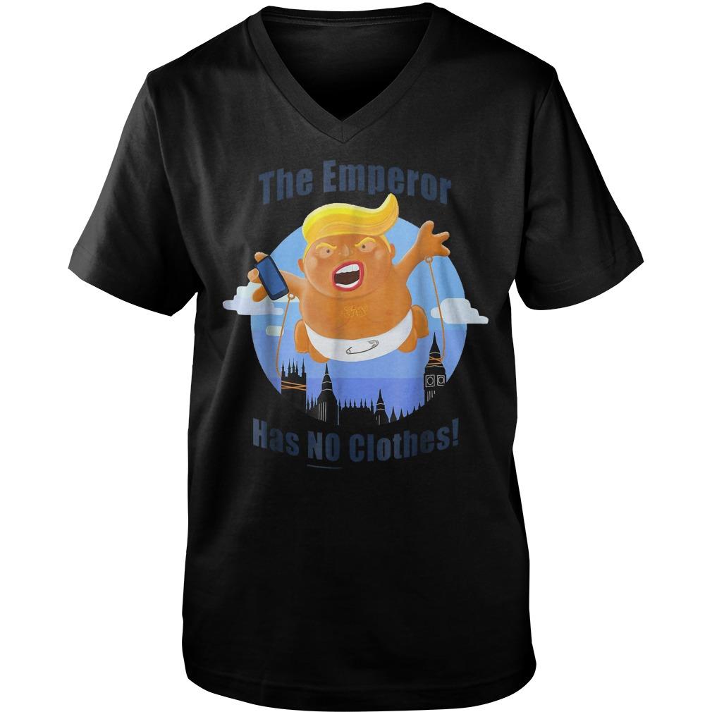 Trump Baby Balloon Blimp The Emperor Has No Clothes T-Shirt Guys V-Neck