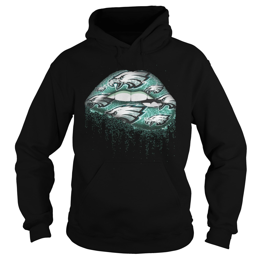 Official Philadelphia Eagles Kiss sweat lips shirt Hoodie