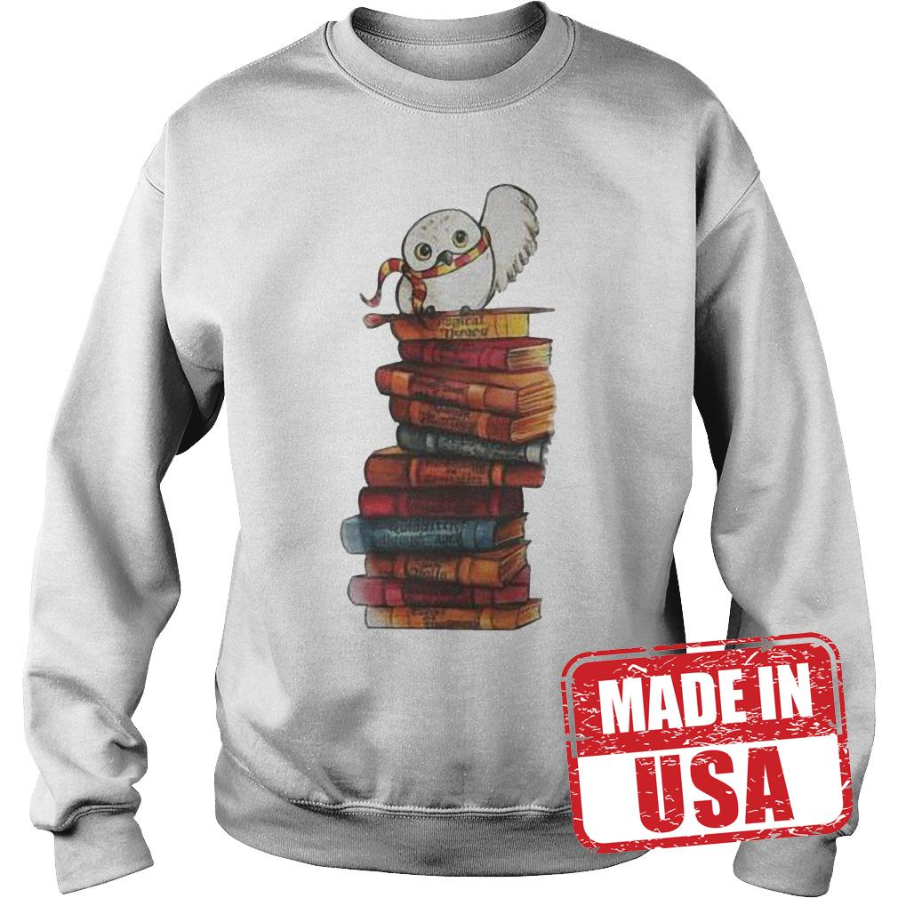 Original Harry Potter - Owl And Books Shirt Sweatshirt Unisex