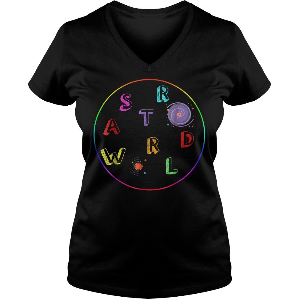 Premium Galaxy Astroworld shirt Ladies V-Neck