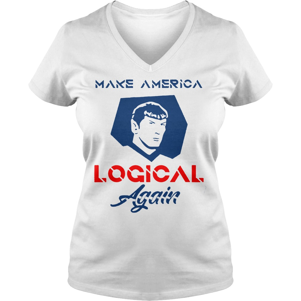 Wonderful Star Trek Spock Make America Logical Again Shirt Ladies V-Neck