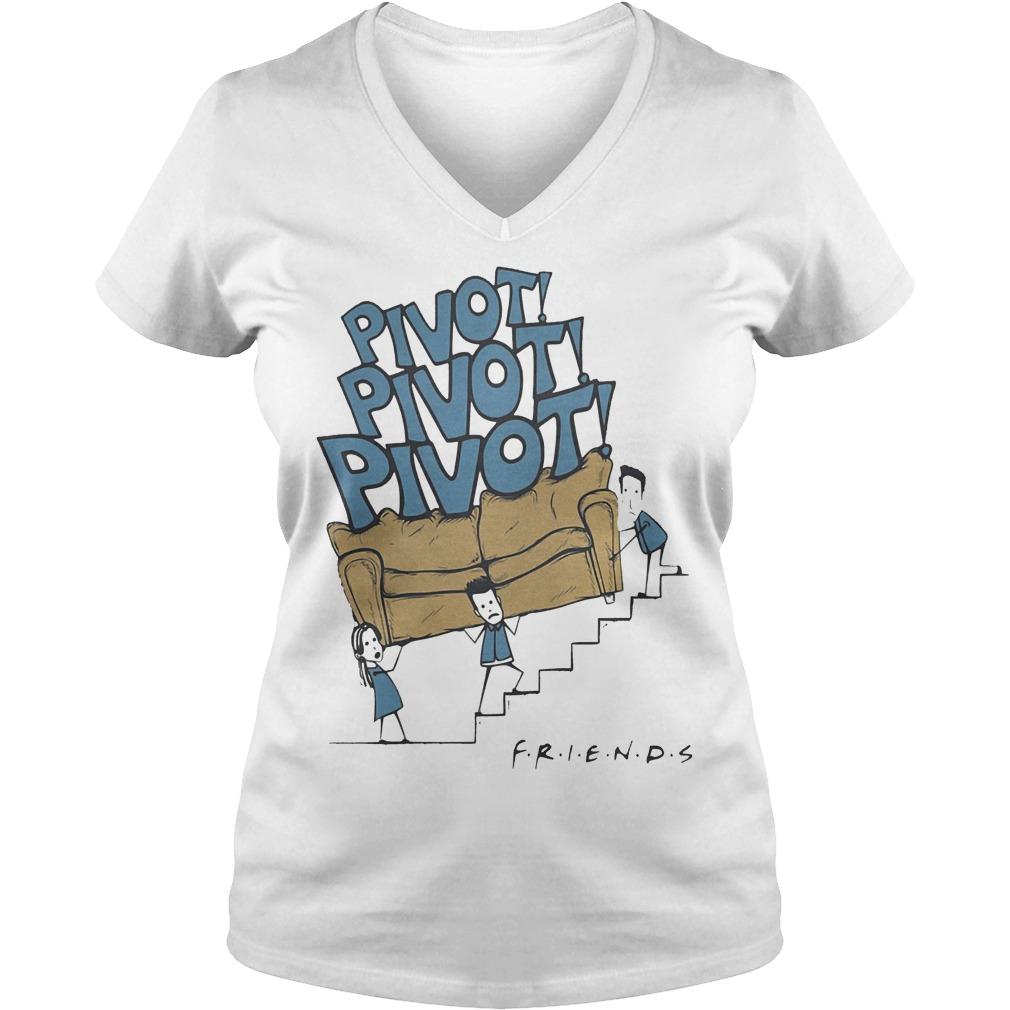 Friends tv show pivot shirt Ladies V-Neck