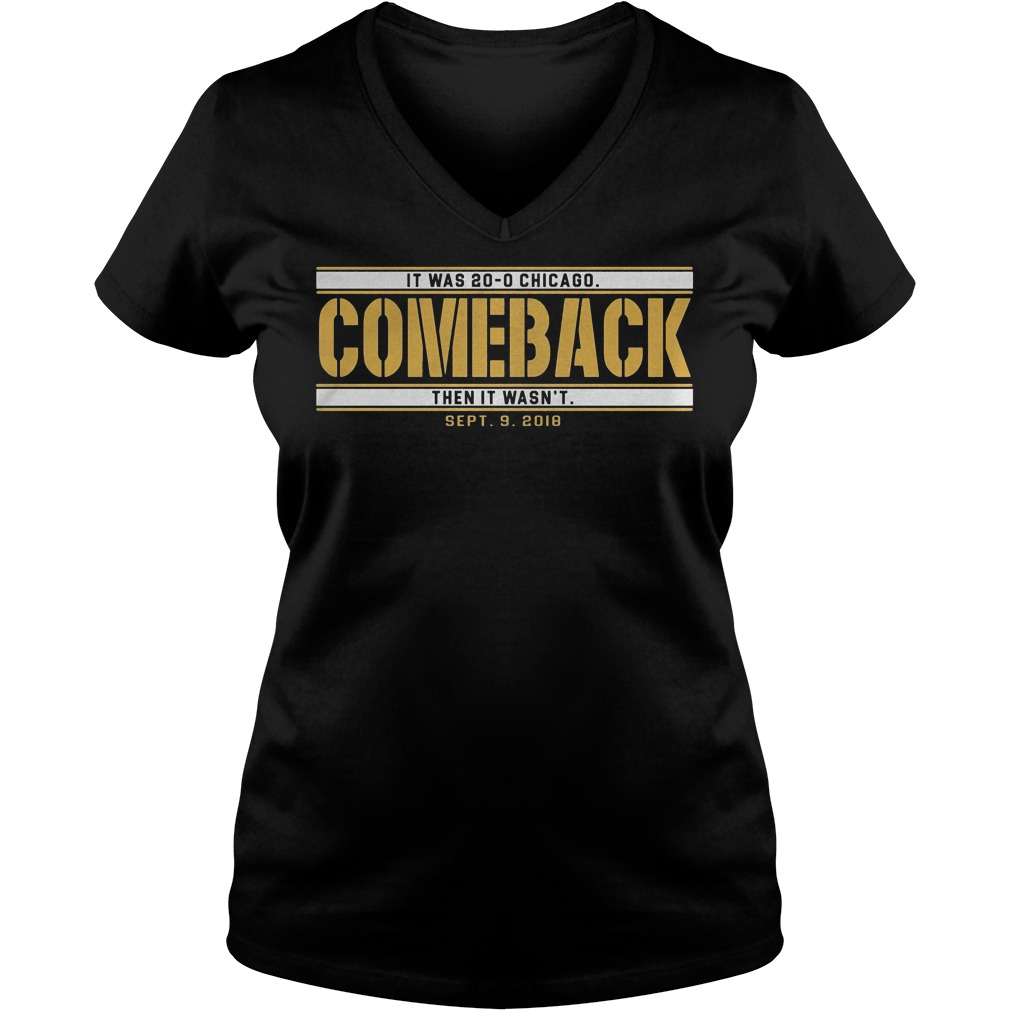 Green Bay comeback shirt Ladies V-Neck