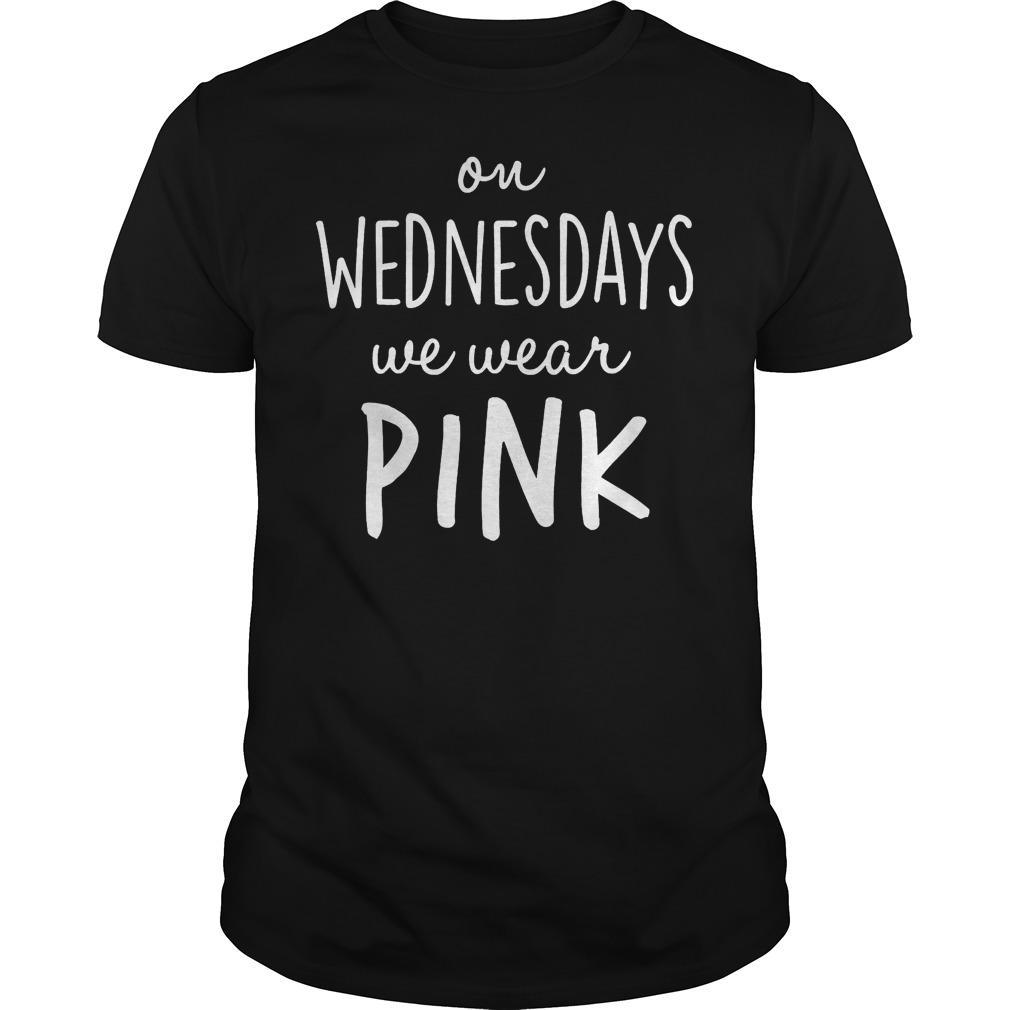 Mean girls on wednesdays we wear pink shirt