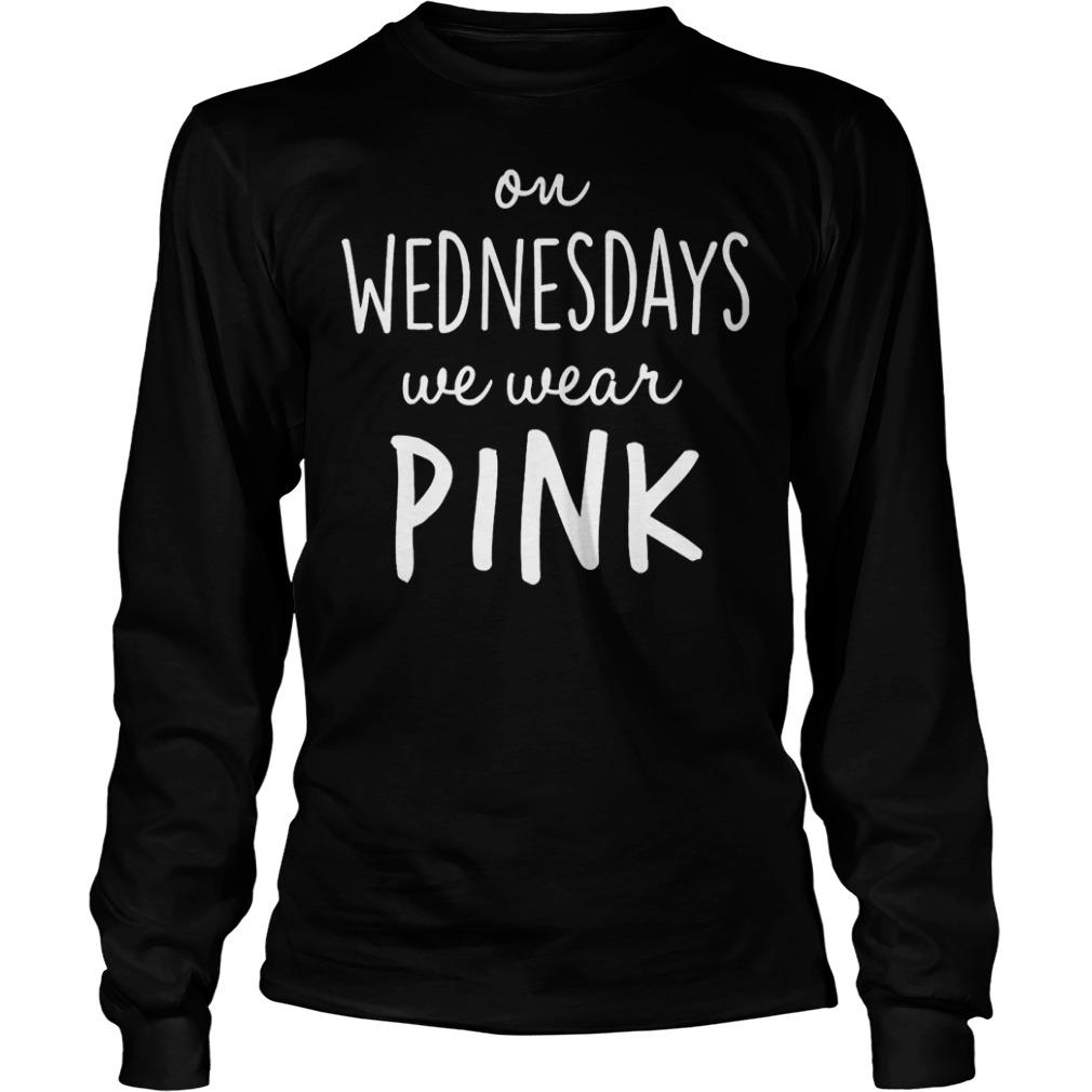 Mean girls on wednesdays we wear pink shirt Longsleeve Tee Unisex
