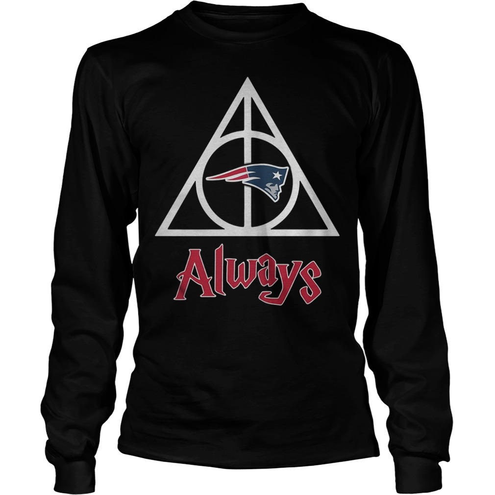 New England Patriots Harry Potter Deathly Hallows Always Shirt Longsleeve Tee Unisex