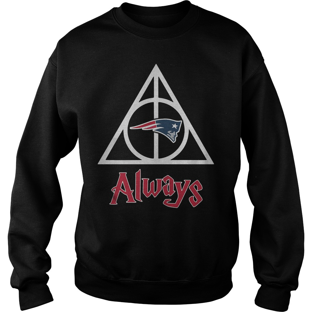 New England Patriots Harry Potter Deathly Hallows Always Shirt Sweatshirt Unisex