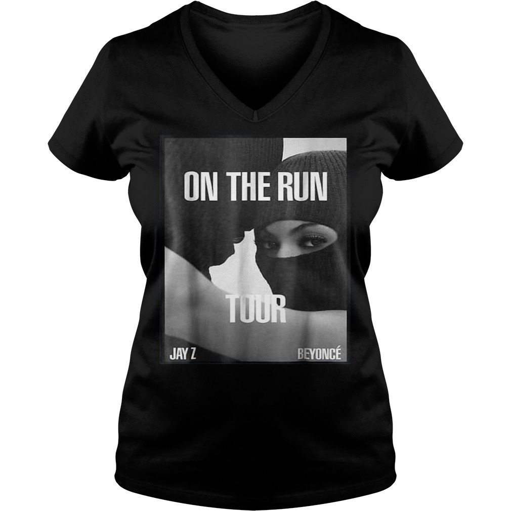 On the run tour Beyonce & Jay z shirt Ladies V-Neck