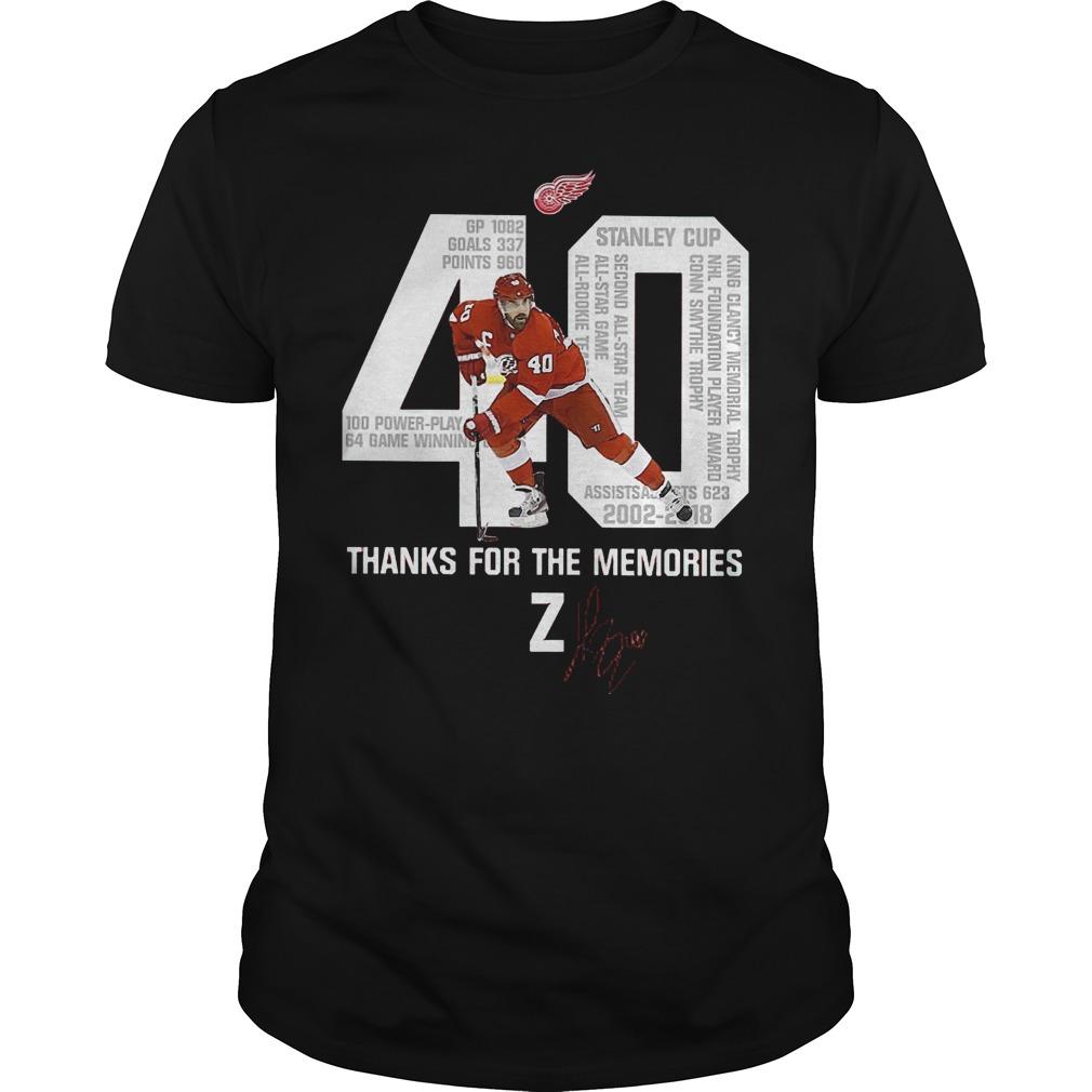 Thanks for the memories Henrik Zetterberg version shirt