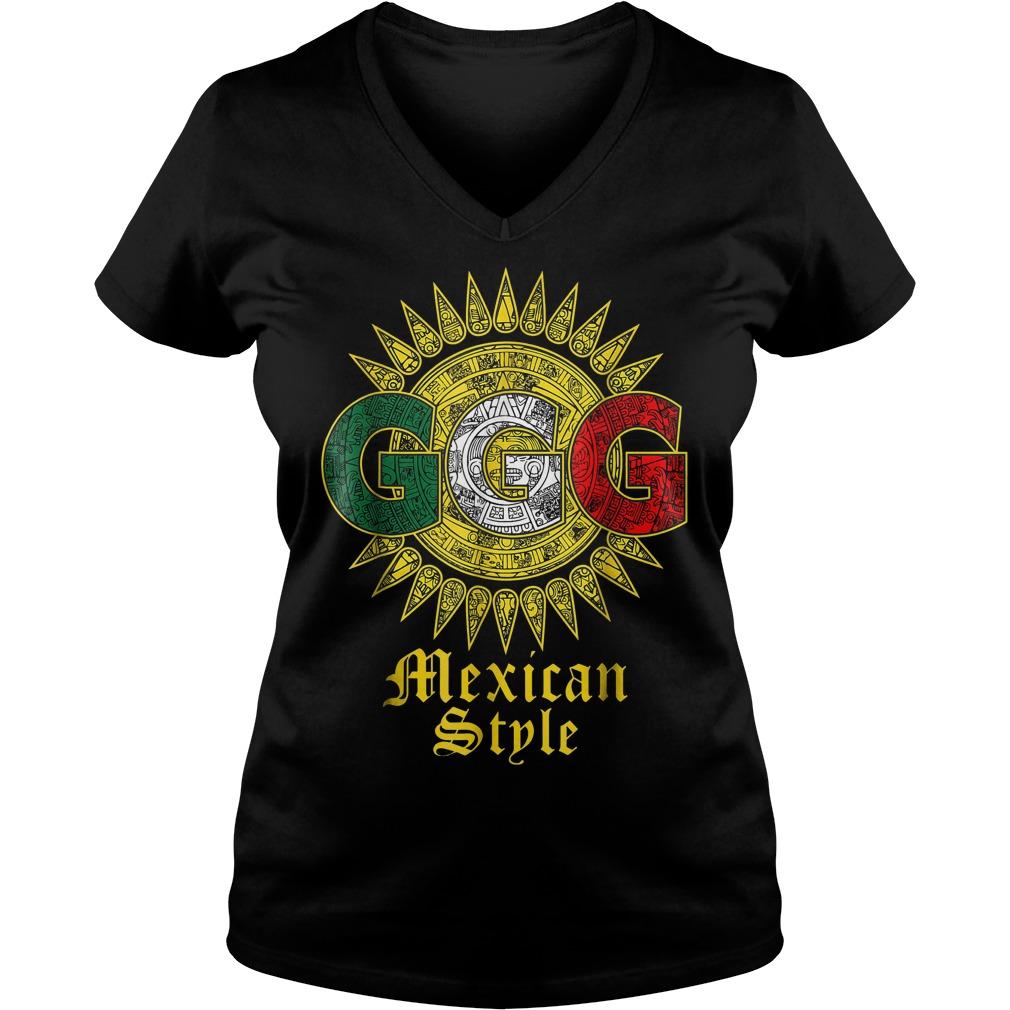 Triple G Sun Mexican shirt Ladies V-Neck