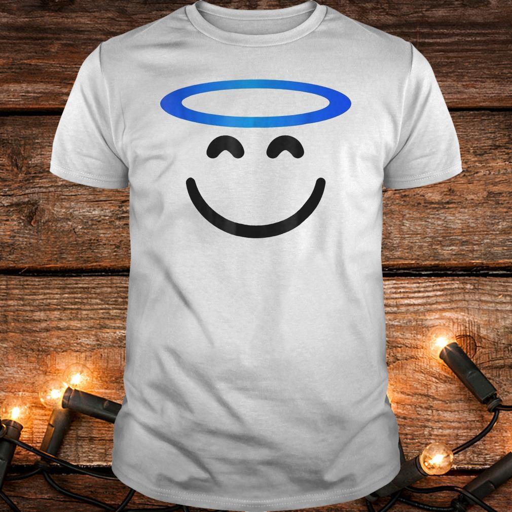 Angel smiling emoji funny halloween costume Shirt