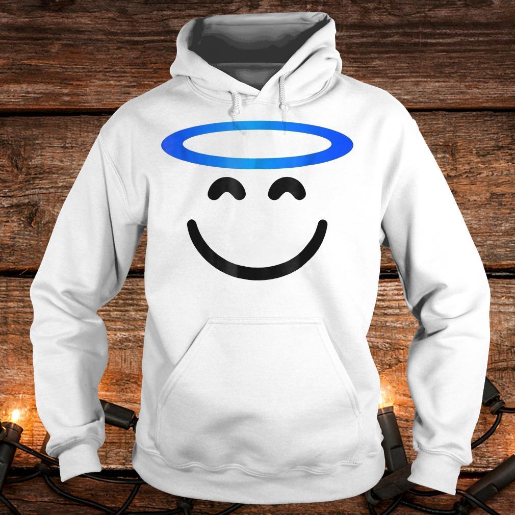 Angel smiling emoji funny halloween costume Shirt Hoodie