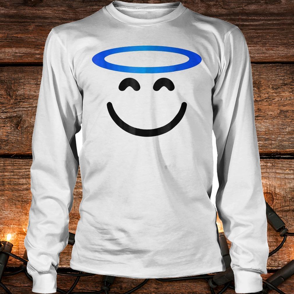 Angel smiling emoji funny halloween costume Shirt Longsleeve Tee Unisex