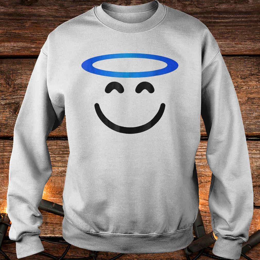 Angel smiling emoji funny halloween costume Shirt Sweatshirt Unisex