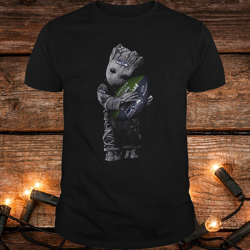 Baby Groot Hug Seattle Seahawks Football NFL T-Shirt