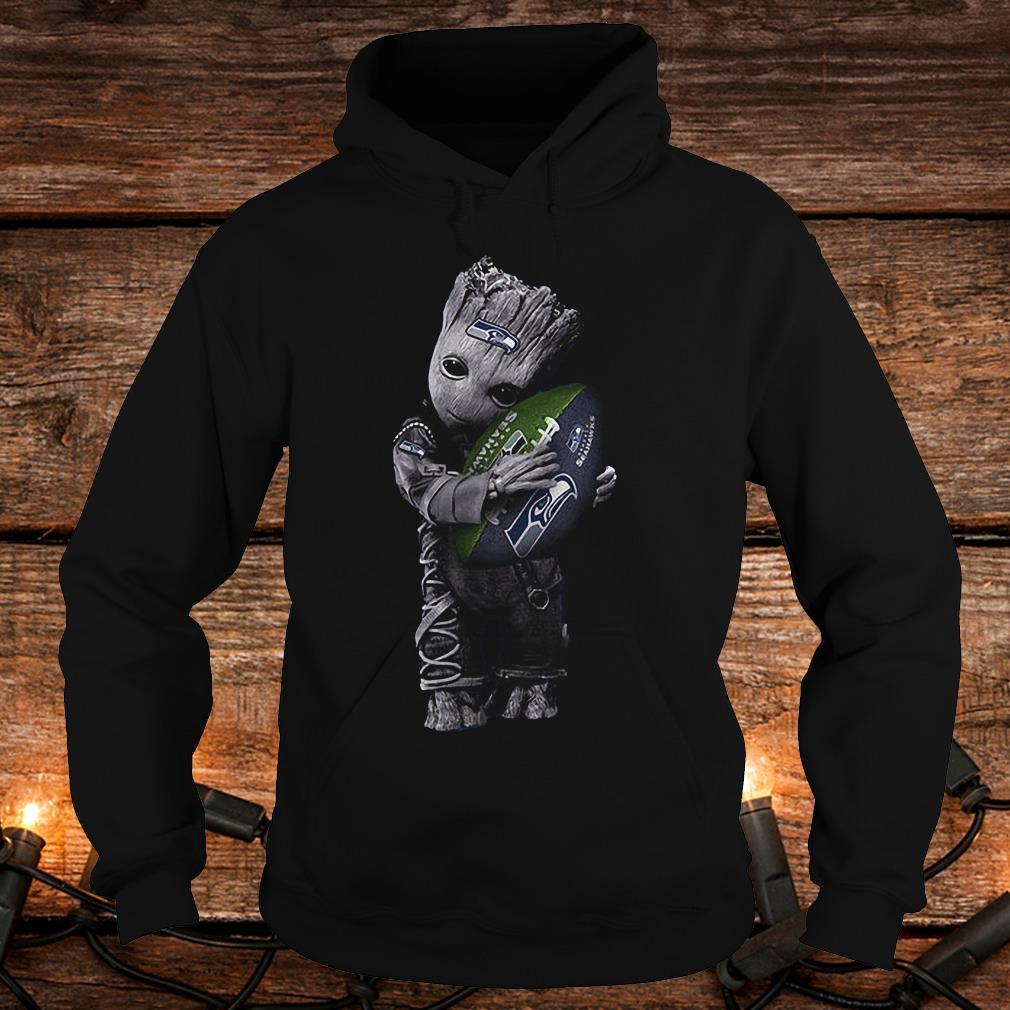 Baby Groot Hug Seattle Seahawks Football NFL T-Shirt Hoodie