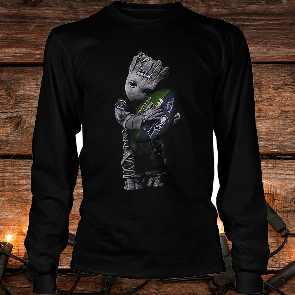 Baby Groot Hug Seattle Seahawks Football NFL T-Shirt Longsleeve Tee Unisex