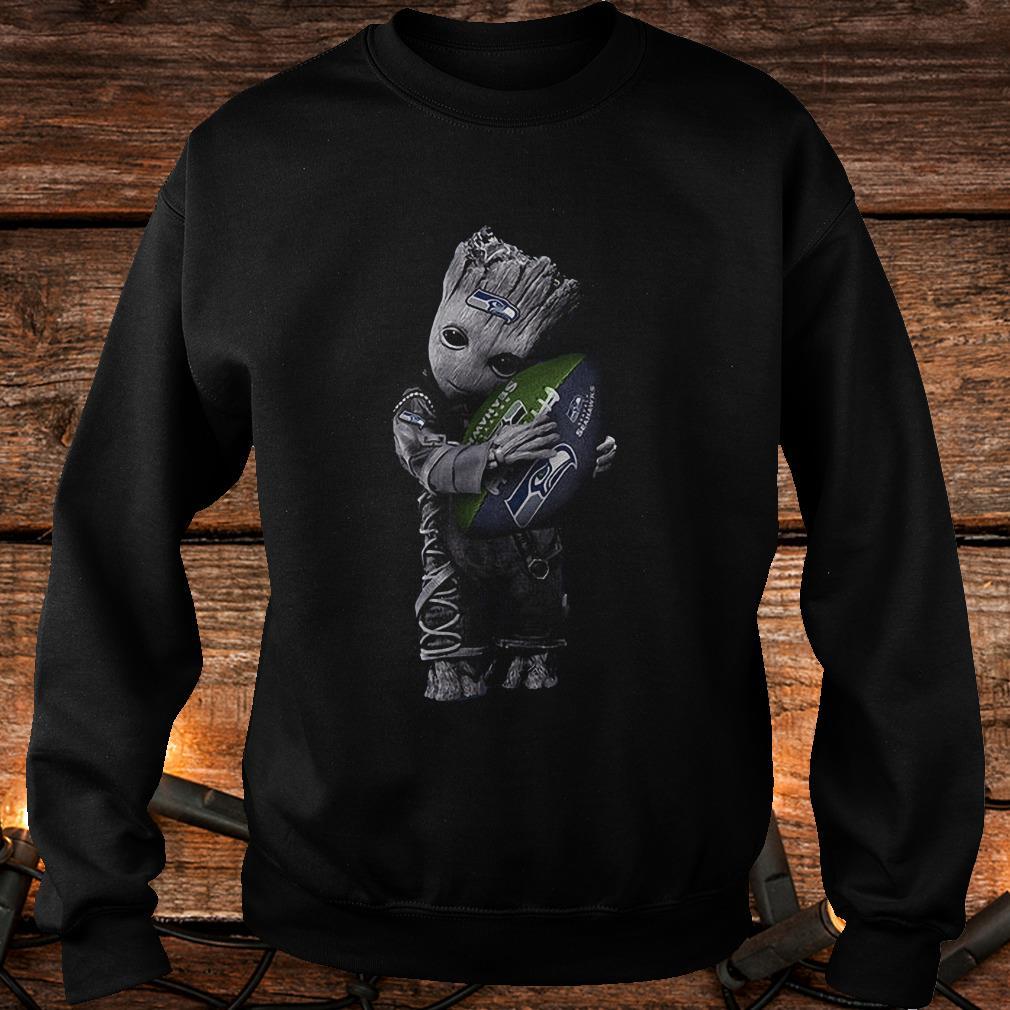 Baby Groot Hug Seattle Seahawks Football NFL T-Shirt Sweatshirt Unisex