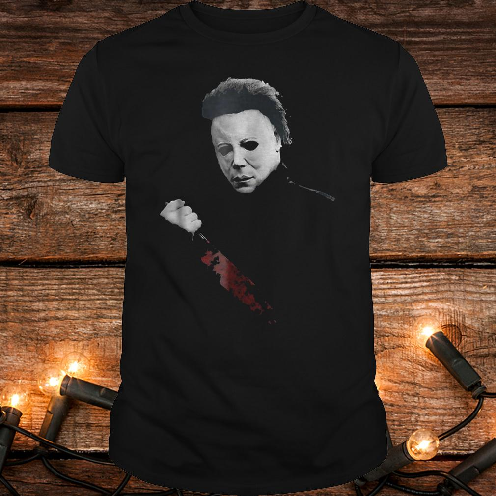Halloween Michael Myers large knife shirt