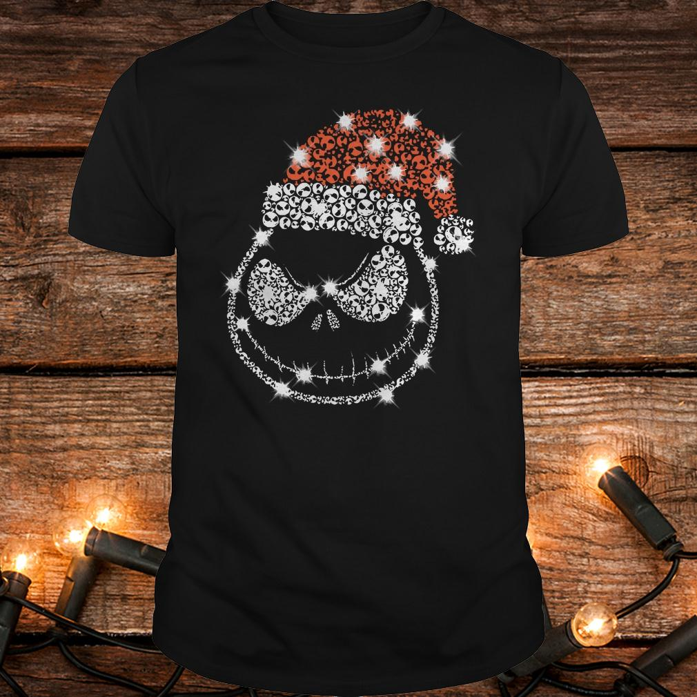Original Christmas Rhinestone Jack Skellington with Santa hat Classic Guys / Unisex Tee