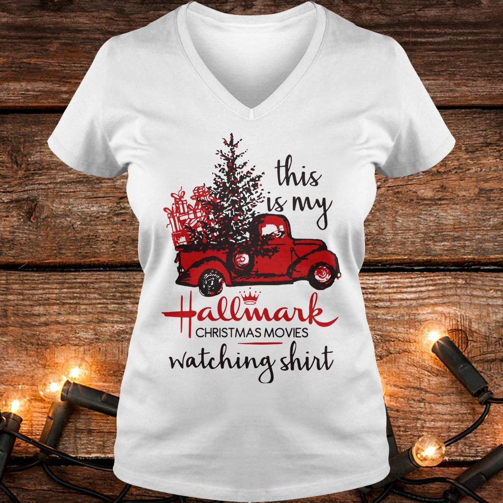 Premium This is my Hallmark christmas movies watching shirt Ladies V-Neck