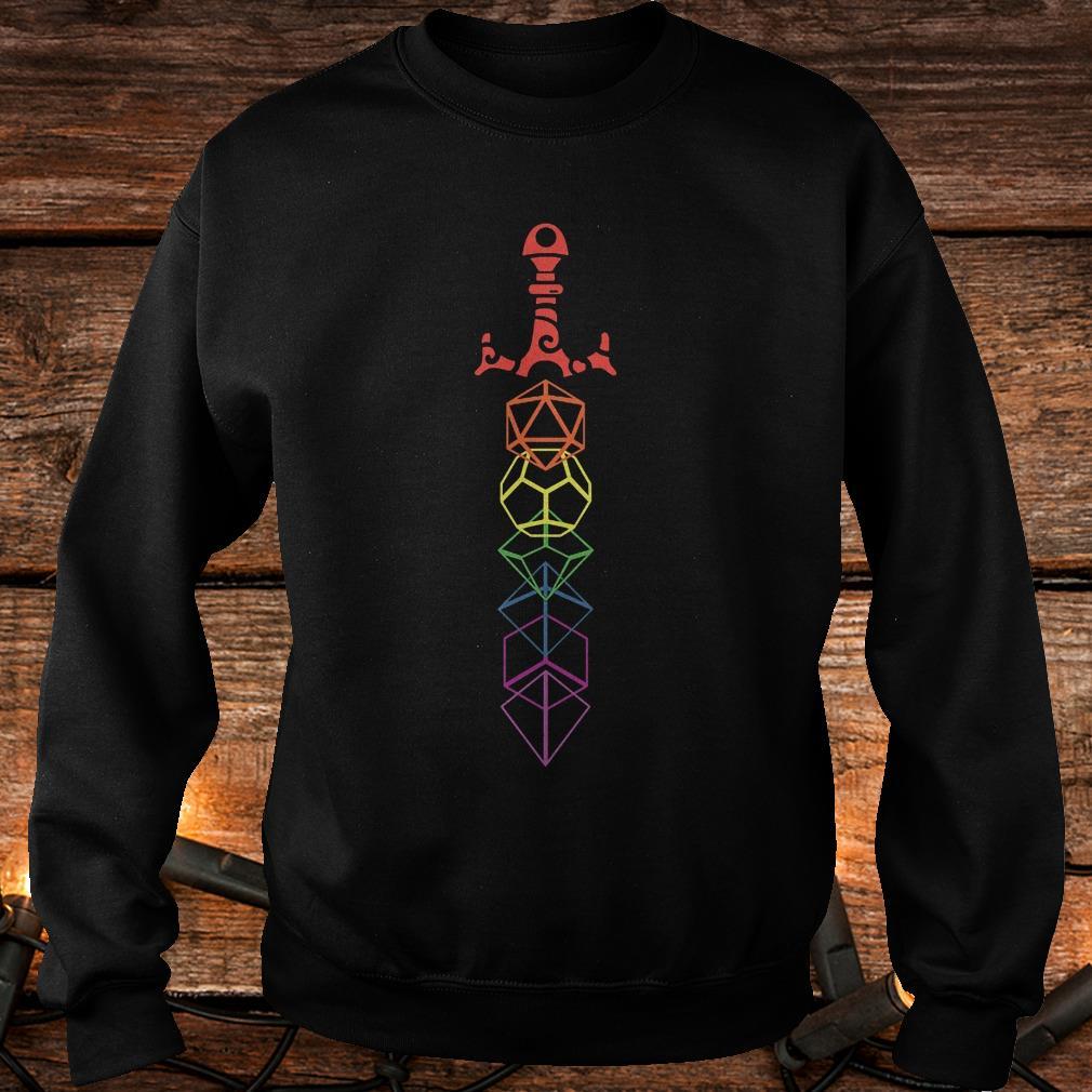 Rainbow dice sword Shirt Sweatshirt Unisex