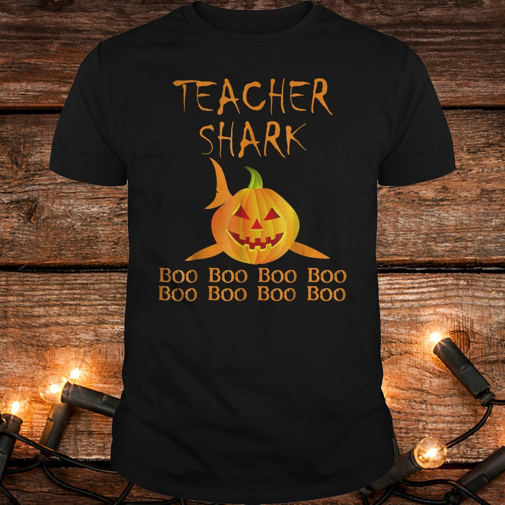 Teacher shark pumpkin halloween shirt