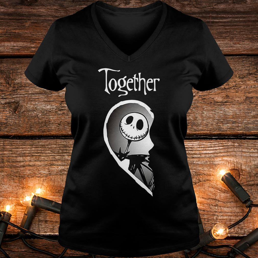 Together Jack Skellington shirt Ladies V-Neck