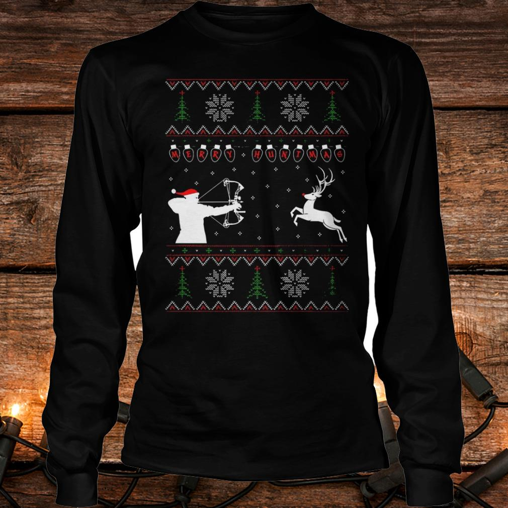 Awesome Merry huntmas sweater Longsleeve Tee Unisex