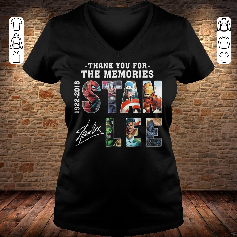 Awesome Text Graphic Thank You For The Memories Stan Lee Shirt Longsleeve Ladies V Neck.jpg