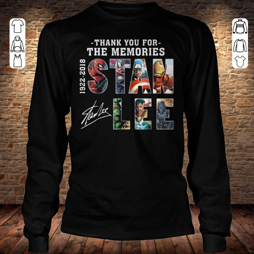 Awesome Text Graphic Thank you for the memories Stan Lee shirt longsleeve Longsleeve Tee Unisex