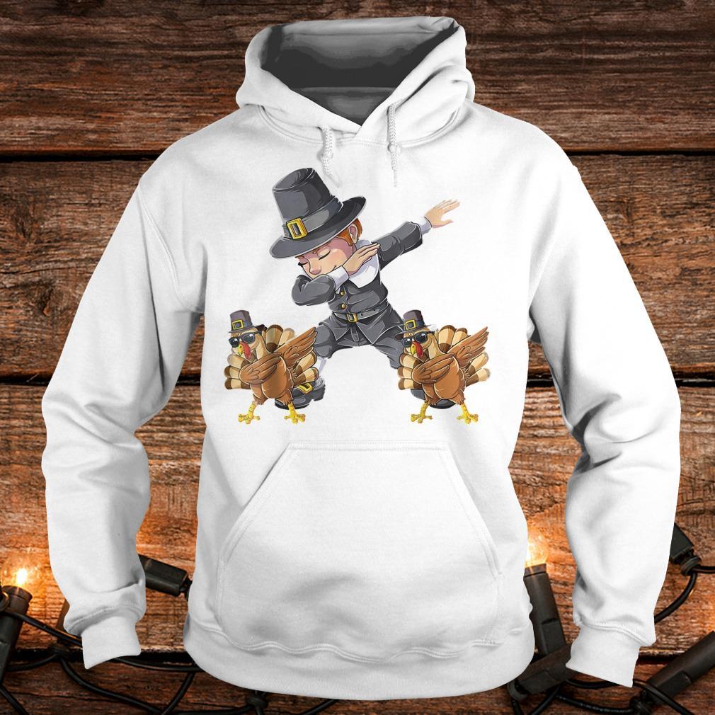 Awesome Thanksgiving Dabbing Boy Turkey Shirt Hoodie