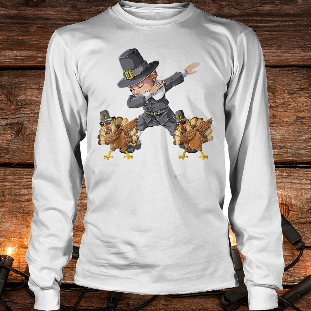 Awesome Thanksgiving Dabbing Boy Turkey Shirt Longsleeve Tee Unisex