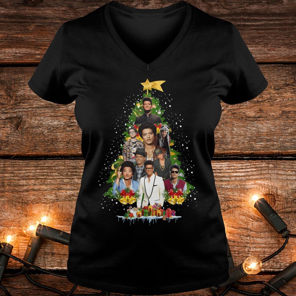 Best price Bruno Mars Christmas tree shirt Ladies V-Neck