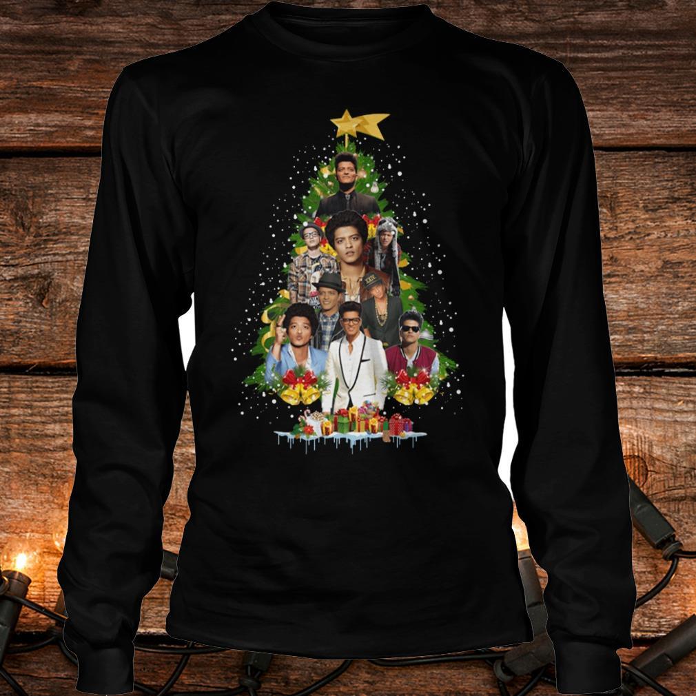 Best price Bruno Mars Christmas tree shirt Longsleeve Tee Unisex