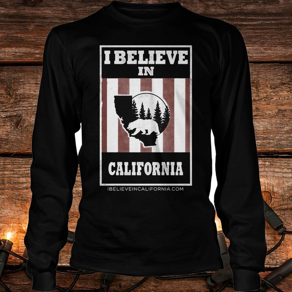 Funny Bear I believe in California wildfires Shirt Longsleeve Tee Unisex