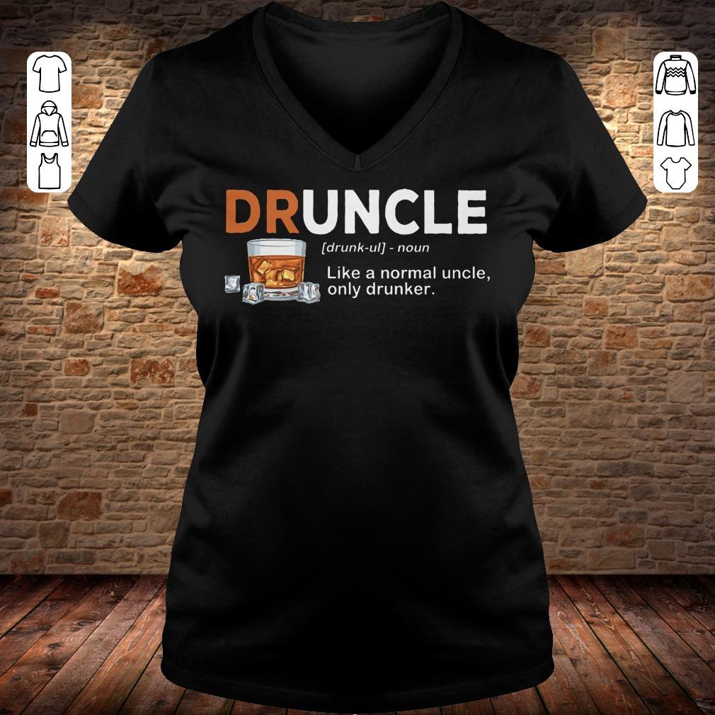 Funny Druncle definition Shirt longsleeve Ladies V-Neck