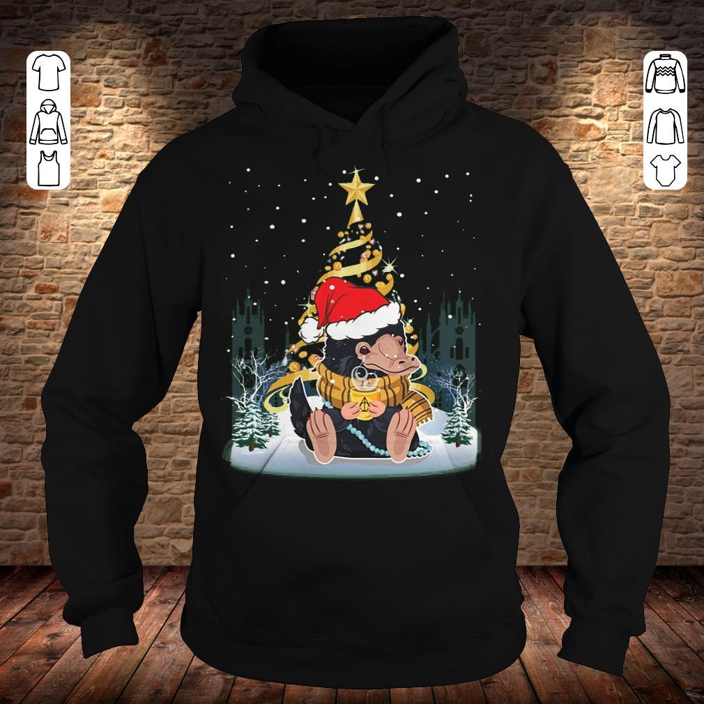 Hot Christmas tree Under Snow Niffler Santa Hat shirt longsleeve Hoodie