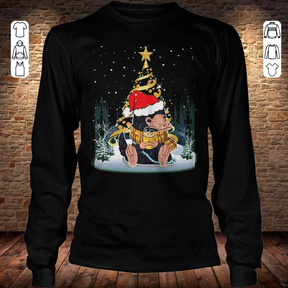 Hot Christmas tree Under Snow Niffler Santa Hat shirt longsleeve Longsleeve Tee Unisex