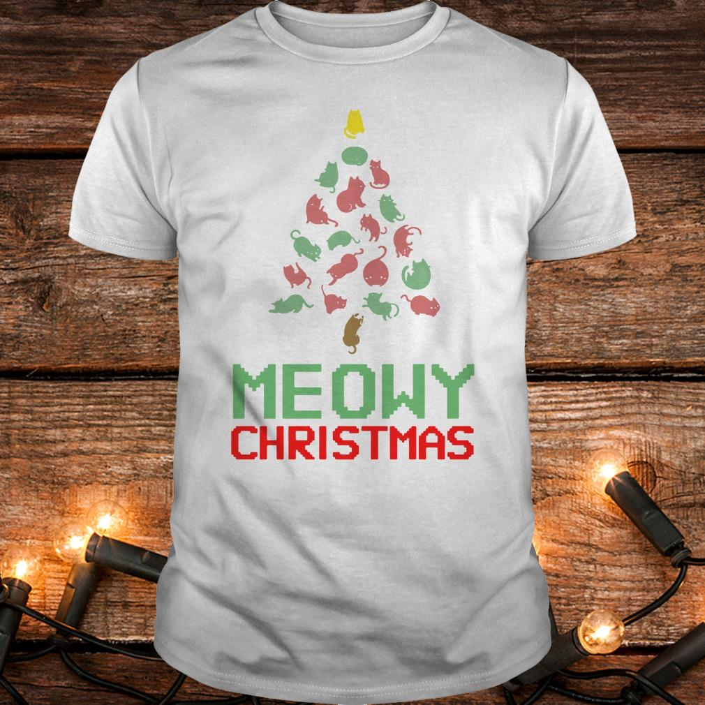 Hot Meowy Christmas Tree shirt Classic Guys / Unisex Tee