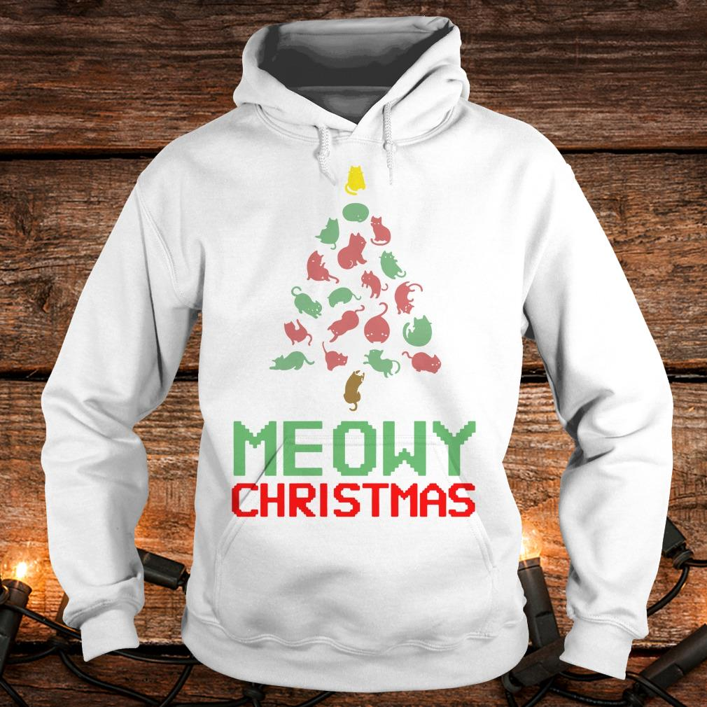 Hot Meowy Christmas Tree shirt Hoodie