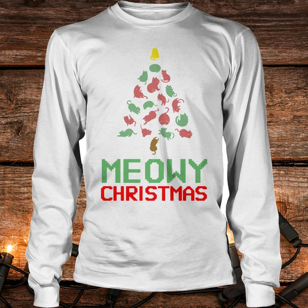 Hot Meowy Christmas Tree shirt Longsleeve Tee Unisex