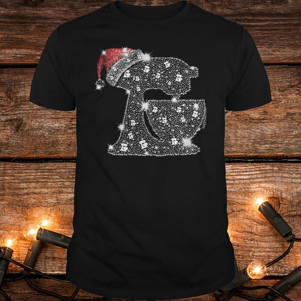 Nice Snoopy Baking Glitter and rhinestones with santa hat shirt Classic Guys / Unisex Tee