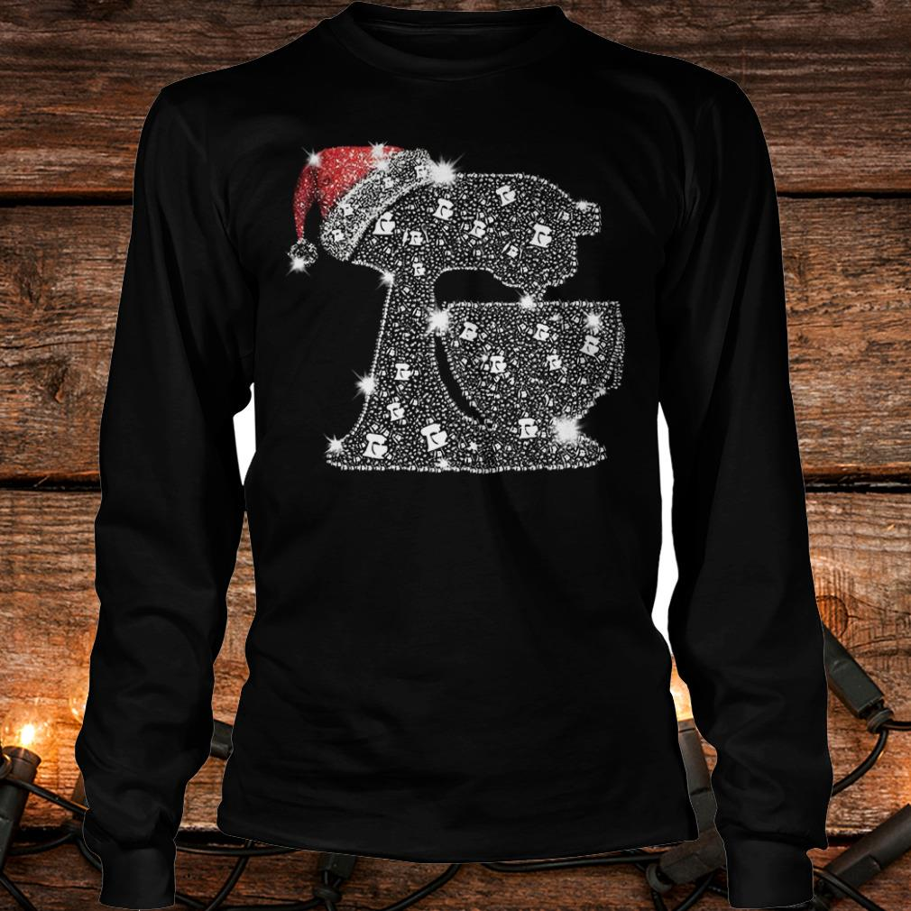 Nice Snoopy Baking Glitter and rhinestones with santa hat shirt Longsleeve Tee Unisex