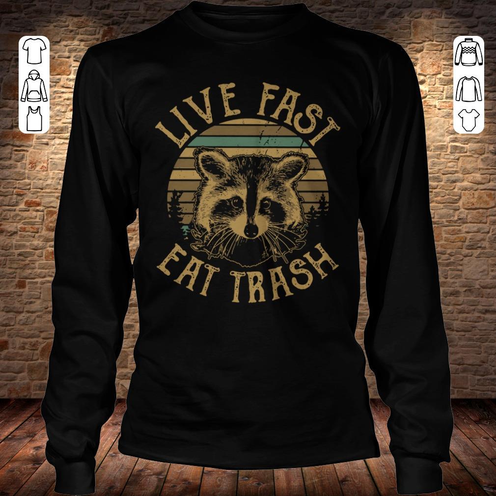 Nice Sunset Camping Live fast eat trash Raccoon shirt hoodie Longsleeve Tee Unisex