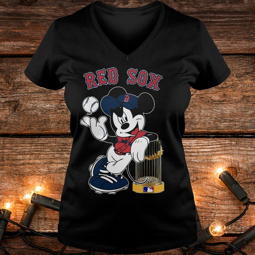 Original Boston Red Sox Mickey Mouse shirt Ladies V-Neck