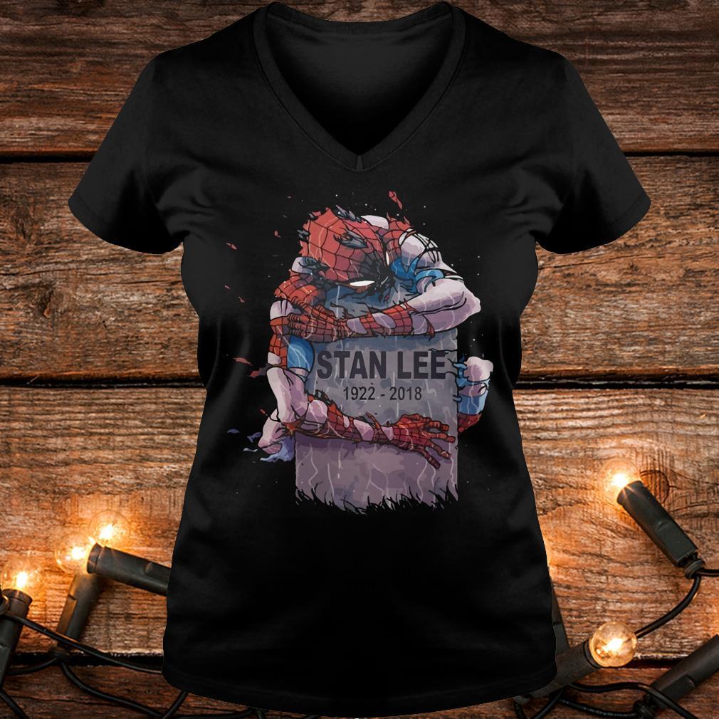 Original Spider Man hug Stan Lee Shirt Ladies V-Neck